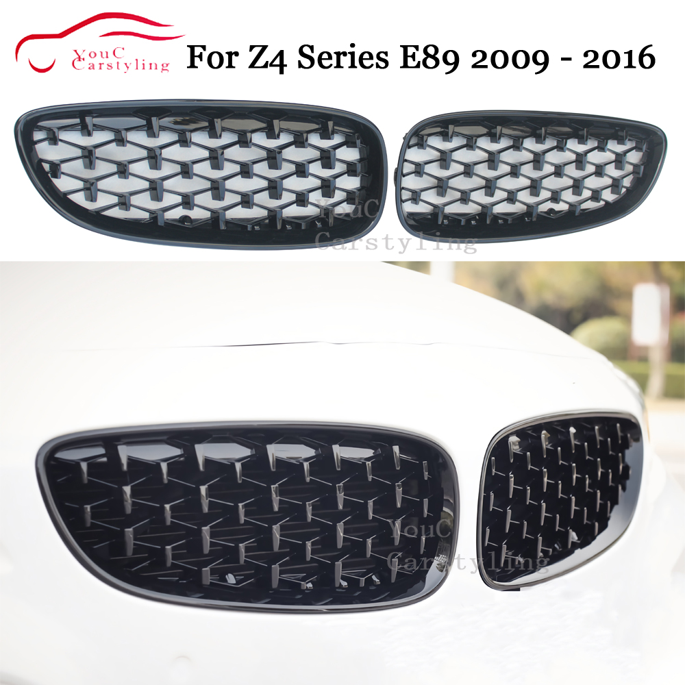 E89 Front Bumper Kidney Grille Grills for BMW Z4 Series E89 2009 - 2016 2-door Coupe Convertible Replacement Grille image