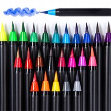 1 Set 20 Colors Soft Brush Pen Set Watercolor Painting Art Markers Pen For Drawing Calligraphy Sketching Artist Supplies
