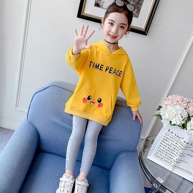 Children Clothes Autumn Cartoon Girls Sets Long Sleeve Tracksuit 2- 13 Years hoodies Girls Clothing Sport Suit Kids Clothes Sets 4