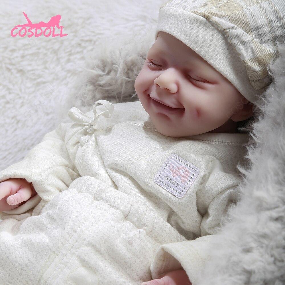 Кукла реборн, 47 см, 3,25 кг, с улыбающейся девочкой, Реалистичная, для новорожденных, подарок на Рождество и день рождения, кукла, игрушки
