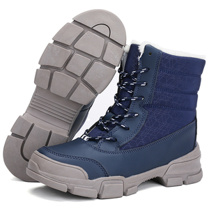 Image 5 - 新しい女性冬の雪のブーツ防水毛皮の女性のアンクルブーツ高品質レースアップウォームぬいぐるみ女性のブーツサイズ 36 42