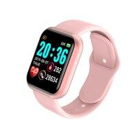 Reloj Digital con control del ritmo cardíaco y de la presión sanguínea para hombre y mujer, pulsera inteligente deportiva resistente al agua IP67 para Android e IOS