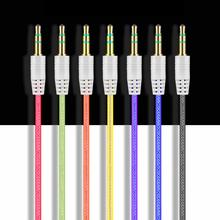 1 metr 3 5mm Jack wtyczka do kabla Audio 3 5mm z męskiego na męskie Audio przewód Aux samochodowy sprzęt Audio kabel audio losowy kolor tanie tanio OLOME Przewód sygnałowy
