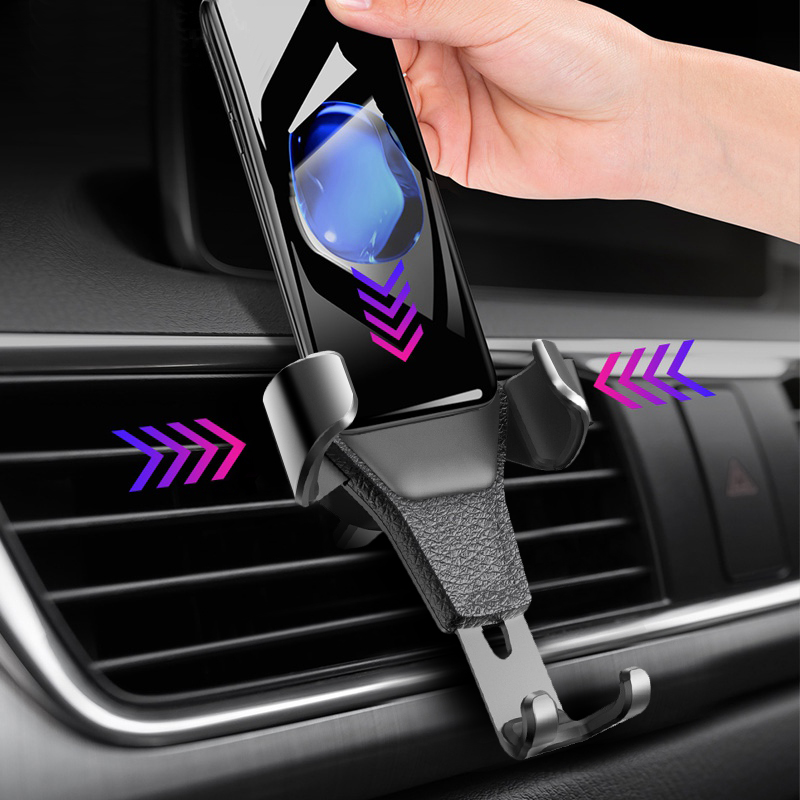 Universal Adjustable Car Air Vent Grip Phone Holder  Gravity Mount Cradle Lazy SmartPhone Stander For Iphone Huawei Samsung