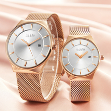 купить Men women quartz waterproof ultra-thin mesh belt strap simple male female watch couple style fashion students wrist watch дешево