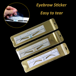Disposable Microblading Eyebrow Ruler Sticker Permanent Makeup Accessories Supplies Eyebrow Stencil Tattoo Measure Shaping Tools