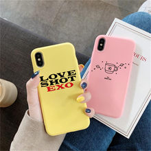 exo love shot BAEK HYUN phone Case For iPhone X 7 Plus XS 10 Case Silicone Phone Cover For iPhone 6S 8 6 Plus XS Max Case(China)