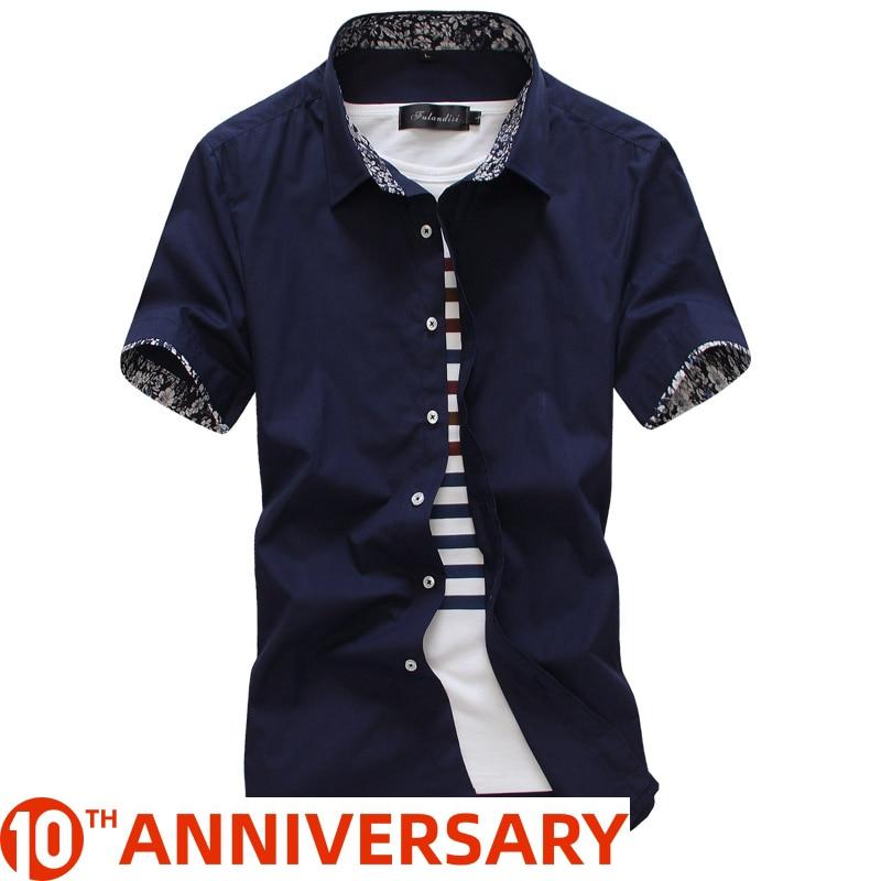 MarKyi 2020 Summer Short Sleeve Floral Mens Dress Shirts Plus Size 5xl Slim Fit Casual Social Shirt Men Good Quality