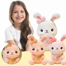 New Cute And Warm Rabbit Pillow Sofa Backrest Plush Toys For Children Lovely Gift Stuffed Soft Doll Pillow Gifts Xmas Gift