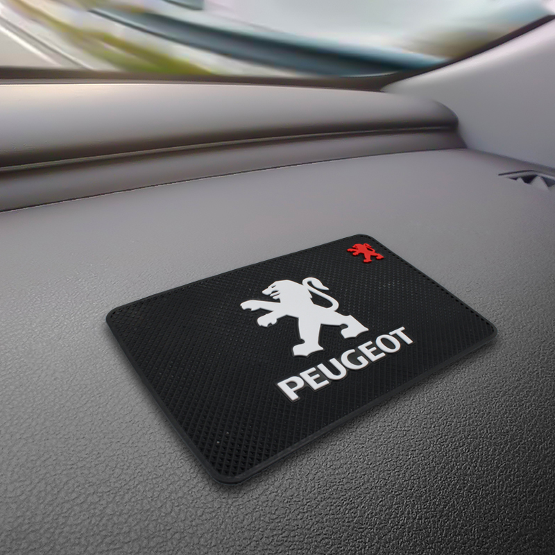 1PCS Car Mat Auto Interior Dashboard Phone Gel Pads Fixed Gel Double Sided Car Non-slip Mat For Peugeot Decoration Accessories