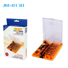 JAKEMY JM-8130 Interchangeable Mini Magnetic Precision 45 In 1 Screwdriver Tool Set Opening Repair Hand Tools for Phone / PC jakemy jm 6112 69 in 1 portable screwdriver telecommunications hardware hand tools set