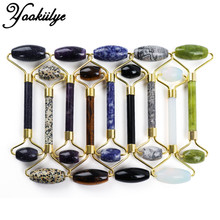 Multicolor Natural Stone Face Jade Roller Facial Massage Lifting Tool Jade Stone Wrinkle Removal Neck Thin Skin Care Massager