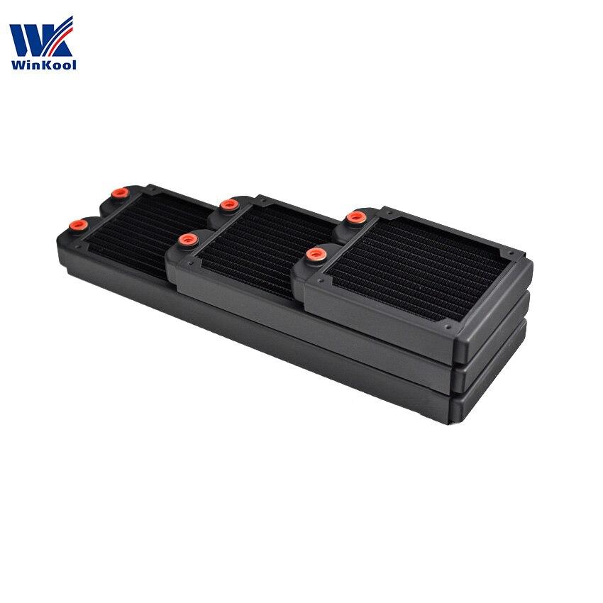 WinKool 120 мм 240 мм 360 мм медный радиатор водяного охлаждения/теплообменник 27 мм тонкий толстый для 120 мм Компьютерный Вентилятор