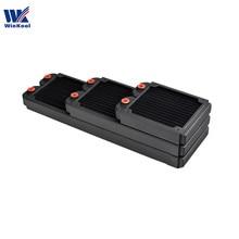 Winkool 120ミリメートル240ミリメートル360ミリメートル銅水冷ラジエーター/熱交換器27ミリメートルスリム用の厚手の120ミリメートルコンピュータファン