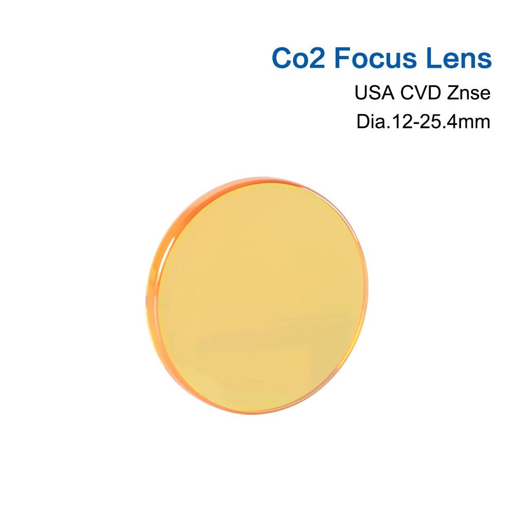 Lente de foco para máquina a laser, EUA, lentes de CVD ZnSe, DIA 12 15 18 19,05 20, FL 38,1 50,8 63,5 76,2 101,6, 127mm