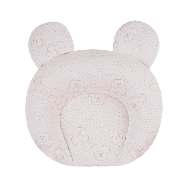 Breathable Stereotypes Anti-Headrest Baby Protective Pillow 100% Cotton Latex Pillow Newborn 0-1 Years Old Head Shaped Pillow