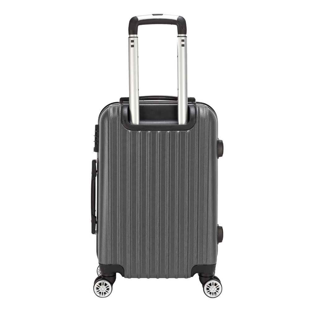 【Sinor】20 inch Waterproof Spinner Luggage Travel Business Large Capacity Suitcase Bag Rolling Wheels Gray Color US Free Shipping