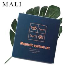 3pair 5 magnetyczne rzęsy 3D sztuczne rzęsy z norek rzęsy magnetyczne magnetyczny płynny eyeliner i magnetyczne sztuczne rzęsy i pęseta zestaw tanie tanio Malishangpin