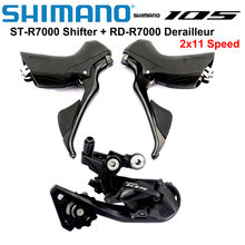 SHIMANO 105 R7000 Groupset Kit 2x11 Speed R7000 Shifter + Rear Derailleur Road Bicycle Dual-Control Lever Rear Derailleur SS GS
