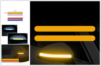 2PCS car sticker rearview mirror reflective strip Auto parts for Infiniti EX35 G35 EX Q45 M45 M35x M35 FX45 Kuraza image