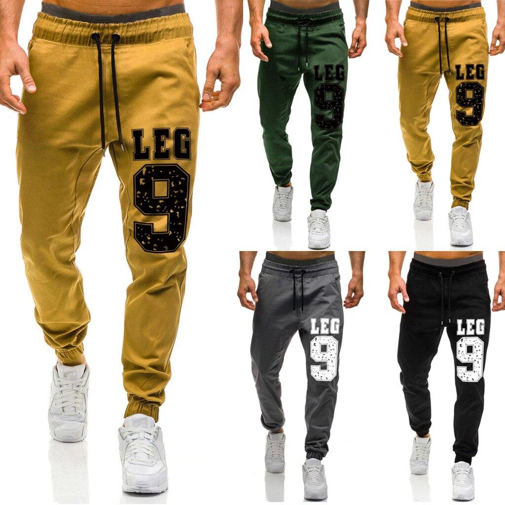 Men Casual Trousers Multi-pocket Straight Leg Pants Jogging Sports Cargo Pants