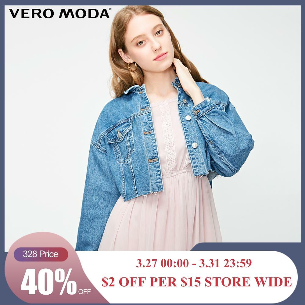 Vero Moda Women's 100% Cotton Raw-edge Denim Jacket   319157502