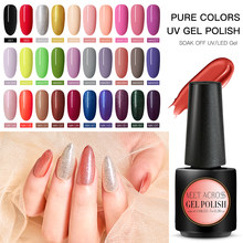 Bertemu Di 7 Ml Gel Nail Polish UV LED Rendam Off Gel Nail Varnish Tahan Lama Nail Gel Lacquer Kuku art Aksesoris(China)