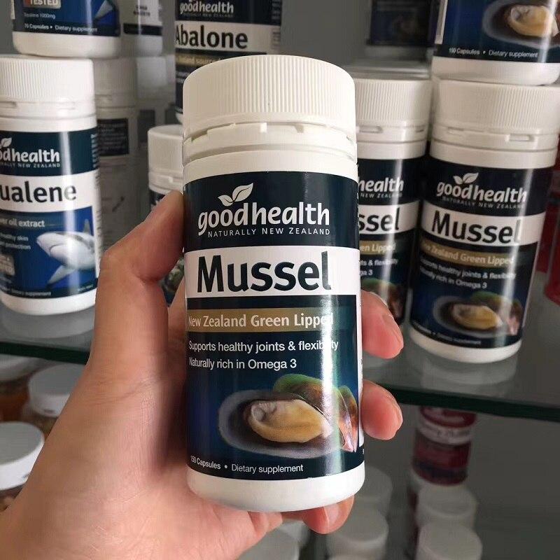 NewZealand GoodHealth Green Lipped Mussel Omega 3 Healthy Joints Flexibility Glucosamine Chondroitin Health Wellness Supplements