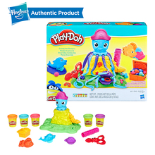 Hasbro Play-Doh Cranky The Octopus Play Doh Playset Ocean Theme Sea Animals Case Of Colors Molding Compound Motor Skills hasbro play doh tootie the unicorn ice cream set with 3 non toxic colors featuring play doh color swirl compound