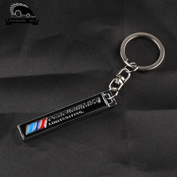 M Performance Metal Car Styling Power Emblem Keychain Key Chain Rings For BMW 1 2 3 4 5 6 7 X1 X3 X4 X5 X6 e46 e90 f30 e60 e39 image