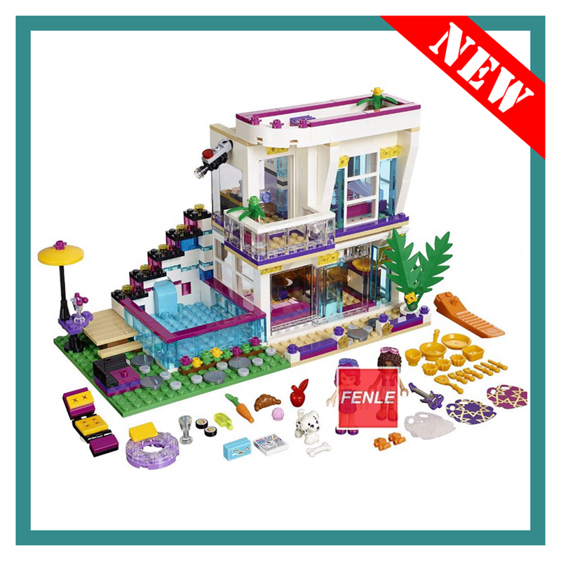 Building Block <font><b>10498</b></font> Compatible Friends Livi's Pop Star House 41135 Emma Mia Figure Educational Toy For Children image