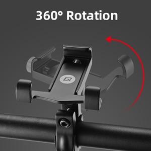Image 2 - ROCKBROS אוניברסלי אלומיניום אופני טלפון הר Stand מחזיק Bracket מתכוונן אופניים כידון הר עבור 3.5 6.2 אינץ Smartphone