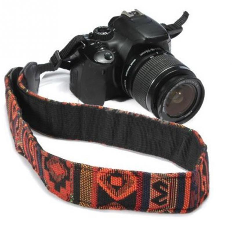 Fashion Shoulder Printing Leather Universal Anti-lost Carrying DSLR Adjustable Camera Strap Accessories Tether Photography