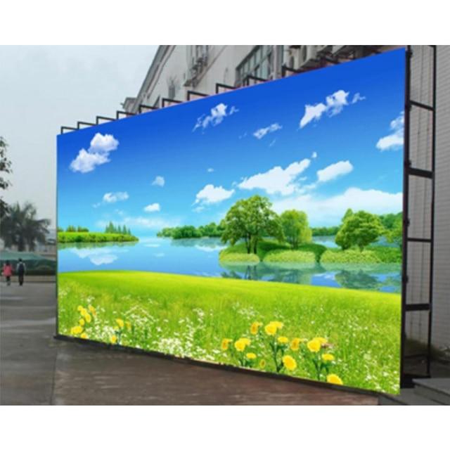 Billboard led panel ledowy P6 SMD rgb 576x576mm odlew szafka aluminiowa wynajem na zewnątrz wodoodporna reklama
