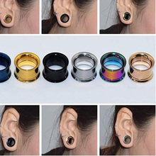 2x 316l Surgical Steel Ear Flesh Tunnel Plugs Anodized Without Thread Double Flared Hollow Screw Ear Expander Gauge Body Jewelry 2x 316l surgical steel ear flesh tunnel plugs anodized without thread double flared hollow screw ear expander gauge body jewelry