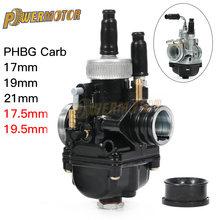Carburateur de course noir moto PHBG 12mm 15mm 17mm 19mm 21mm carburateur carburateur 2 temps pour Yamaha Puch Zuma ATV BWS100