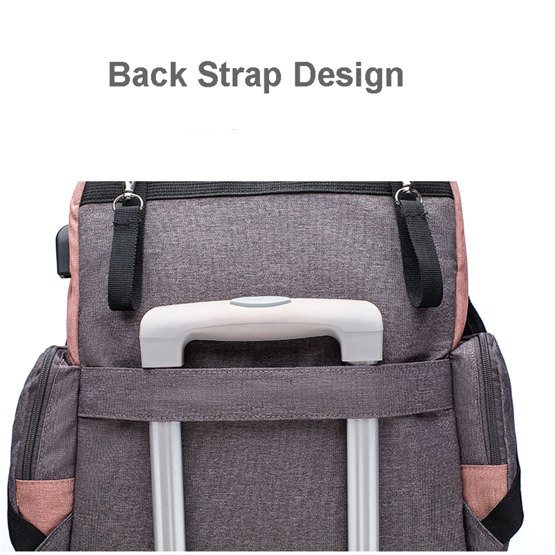 Lequeen Brand Diaper Bag Large Capacity USB Mummy Bag Travel Backpack Designer Nursing Bag for Baby Care