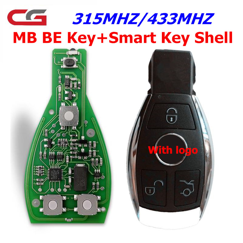 CGDI Smart Remote Key For Mercedes For Benz Supports BGA 315MHz Or 433MHz Buttons Support All FBS3 And Automatic Recovery