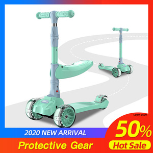 ARDEA teenager kids scooter three wheel kick for children 3-8 yearls old foldable scooter glowing wheels aluminium frame