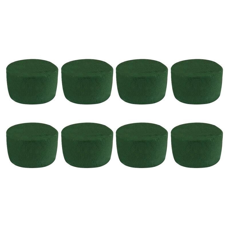 8 шт. в упаковке, набор для расстановки цветов, зеленый круглый мокрый цветочный пенопласт, свадебные цветы, вечерние украшения
