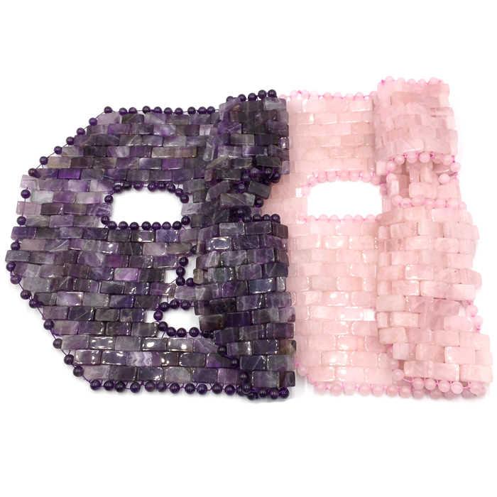 Cooling NATURAL Amethyst Rose หยกควอตซ์ Sleep Face Mask สำหรับ Beauty & Cooling & Healing