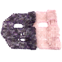 Cooling Natural facial Amethyst Rose Quartz Jade Sleep Face Mask For Beauty&Cooling&Healing