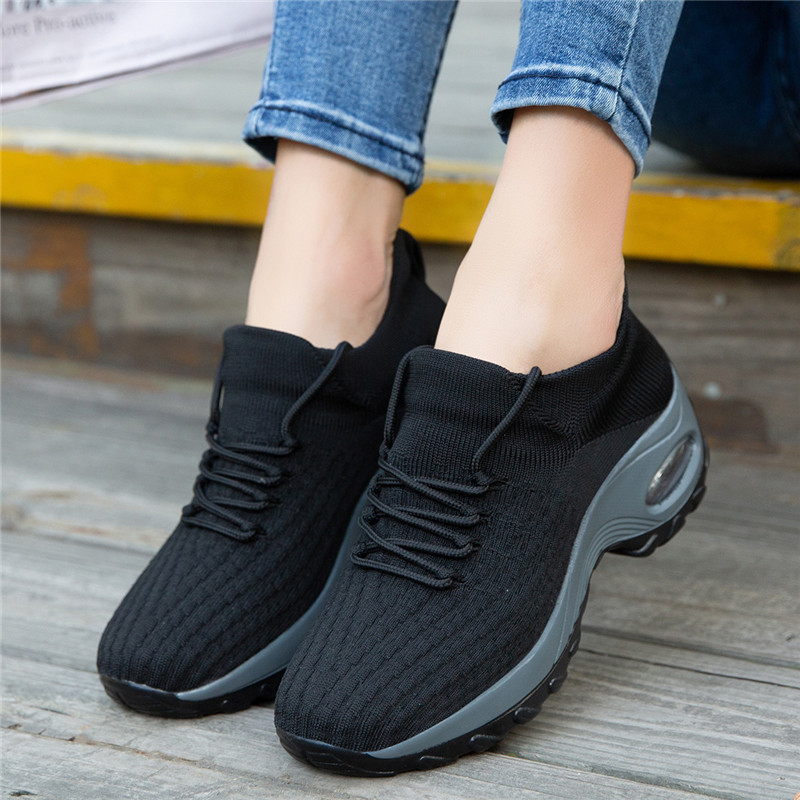 Sneakers Women Casual Shoes Increase Height Comfortable Ladies Shoes Breathable Walking Sneaker High Platform Plus Size Trainers