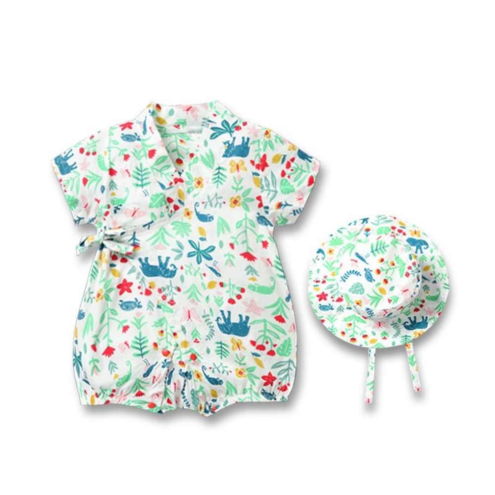 ホット販売ロンパースユニセックス新生児ロンパースプリント夏ロンパース