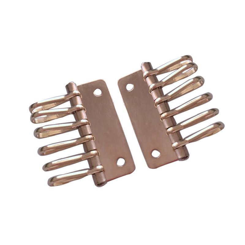 1x Solid Brass metal key snap hook key holder Key Row Rivet Hook Keyring Organizer Holder Leather Craft Key case purse Hardware