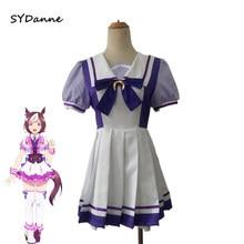 Anime bonito derby uma musume cosplay traje uma musume tokai teio cosplay feminino vestido de festa uniforme de verão