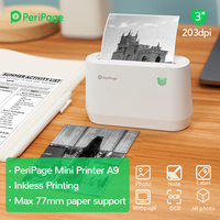 PeriPage Portable Thermal Bluetooth PrinterA9 203dpi Thermal Picture Photo Invoice Mini Wireless Printer for Android IOS