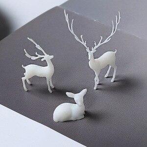 3Pcs 3D three-dimensional forest micro-landscape accessories crystal epoxy glue DIY filler decoration elk fairy deer model
