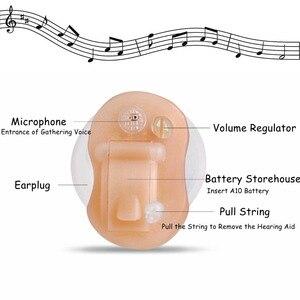Image 4 - Mini unsichtbare CIC Hörgerät Digitale Hörgeräte Für Die Ältere Mit A10 Batterie Kostenloser DropShip In Die Ohr Sound verstärker
