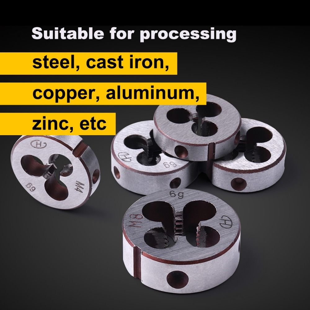 25mm OD Round Threading Die Alloy Steel uxcell M9 X 0.5 Metric Round Die Machine Thread Die